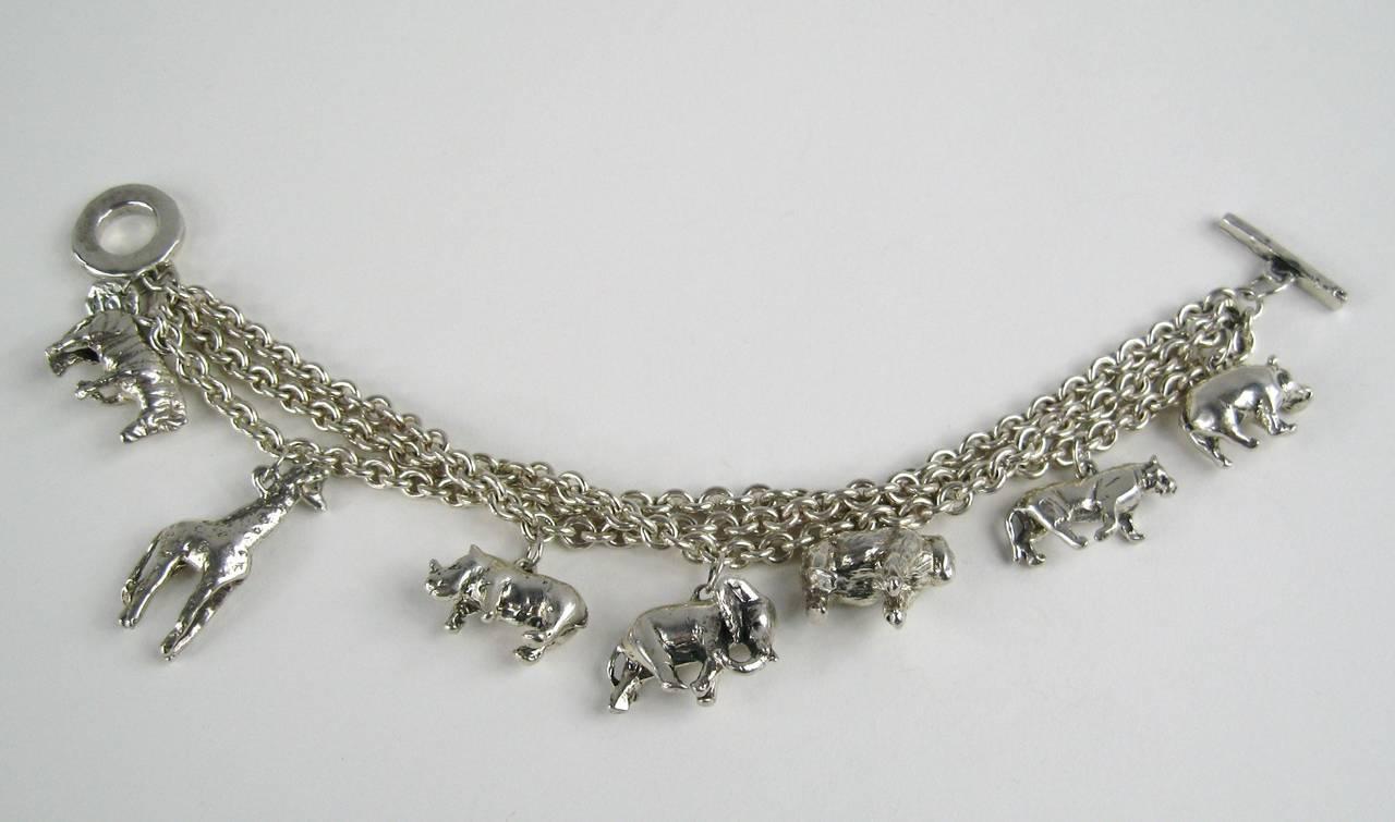 Sterling Silver 1990s Carol Felley Wild Animal Charm