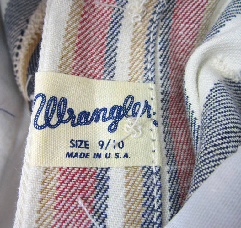 1960s New Old Stock Striped Wrangler button front Jeans 8