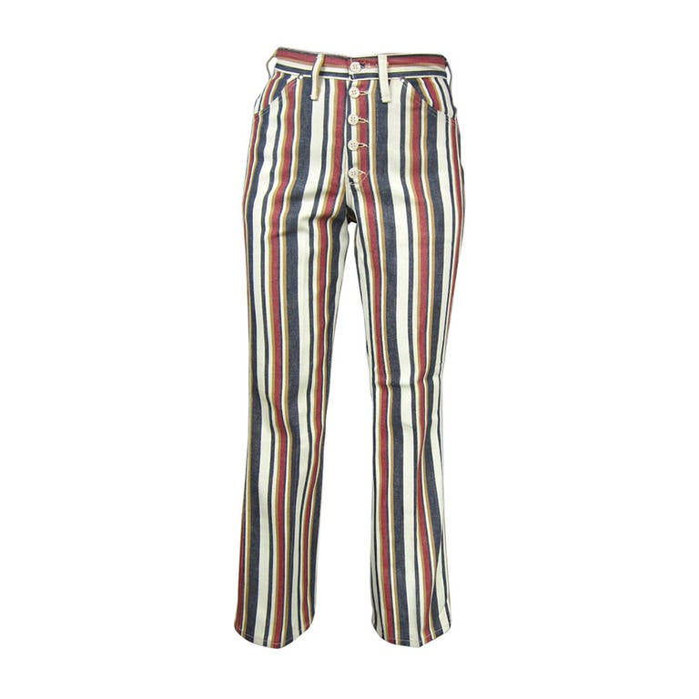 1960s New Old Stock Striped Wrangler button front Jeans 1