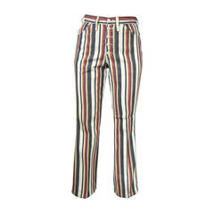 1960s New Old Stock Striped Wrangler button front Jeans