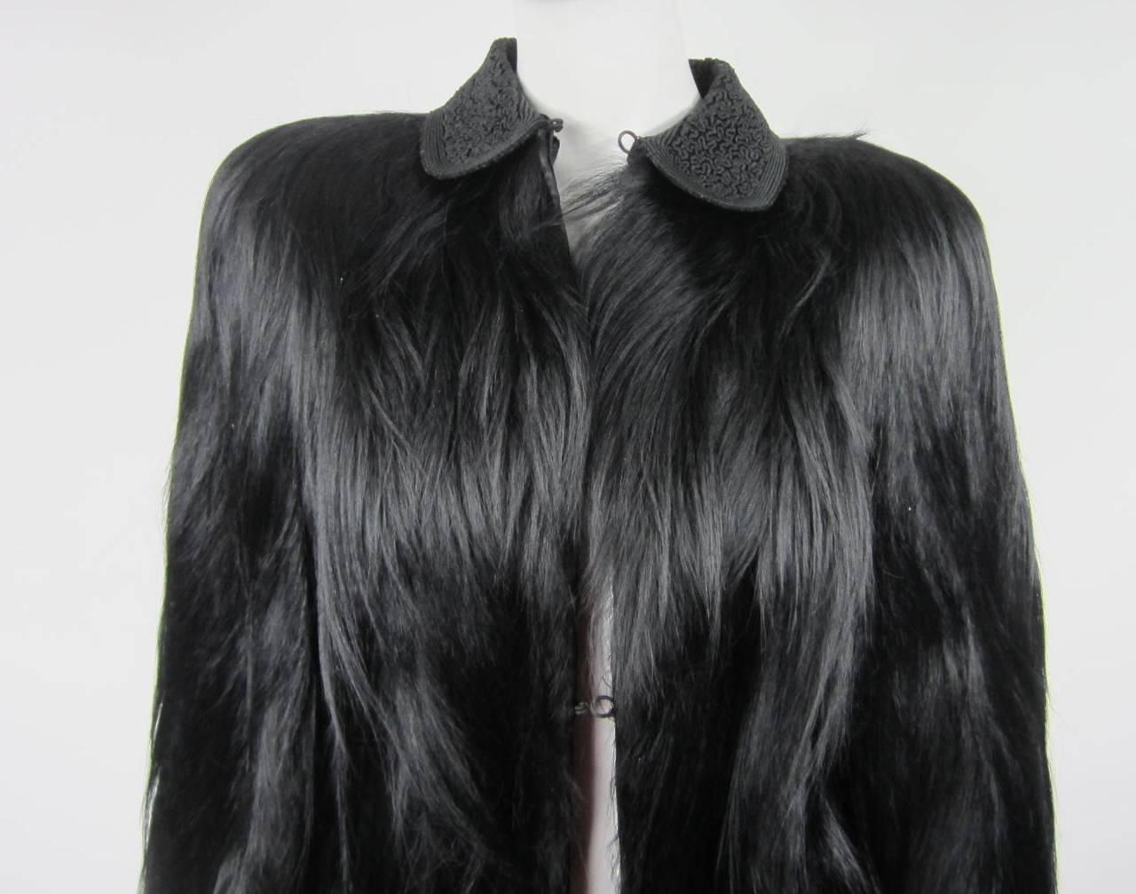 Stunning 1940s Vintage Black Monkey Coat At 1stdibs