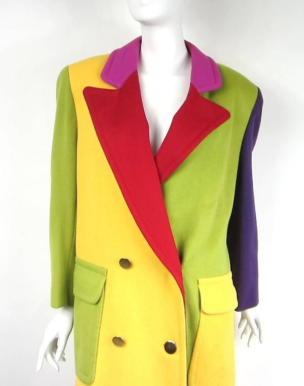 A rainbow of colors on the wool Bill Blass Jacket