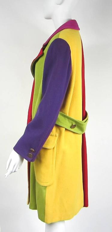 Yellow 1980s Bill Blass Color Block Wool Jacket For Sale