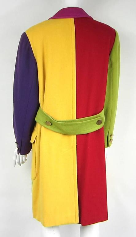 1980s Bill Blass Color Block Wool Jacket In Excellent Condition For Sale In Wallkill, NY