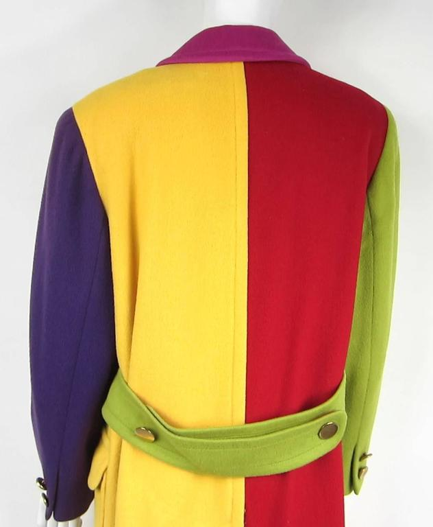 Women's 1980s Bill Blass Color Block Wool Jacket For Sale