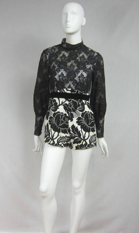 Vintage 1970's Black Hot Pants - Shorts & Wrap Maxi Skirt Mignon 2