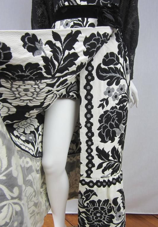 Vintage 1970's Black Hot Pants - Shorts & Wrap Maxi Skirt Mignon 7