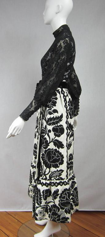 Vintage 1970's Black Hot Pants - Shorts & Wrap Maxi Skirt Mignon 4