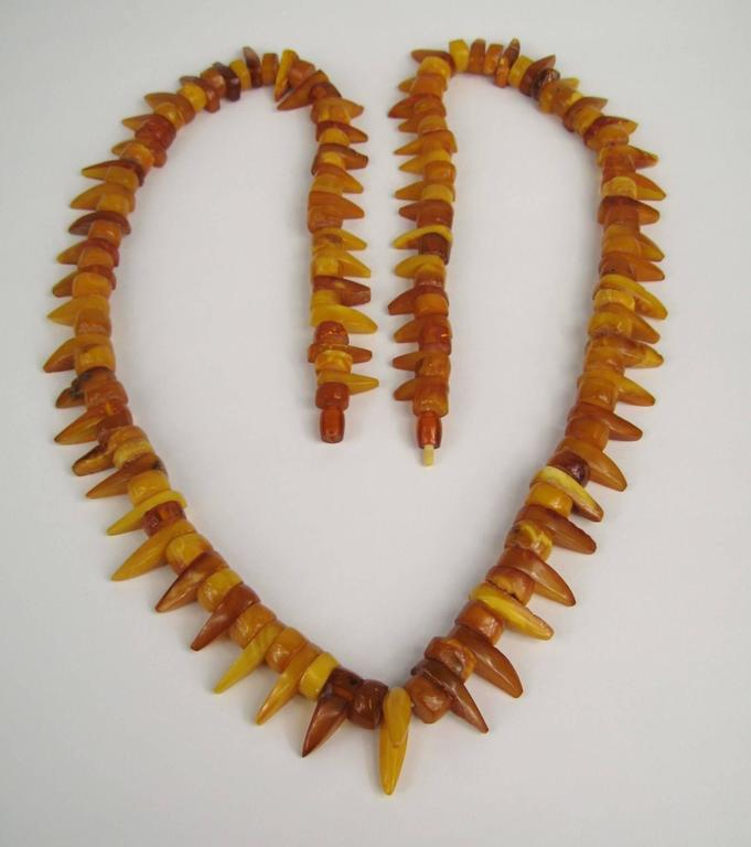 Baltic Honey Amber Tribal Necklace  3