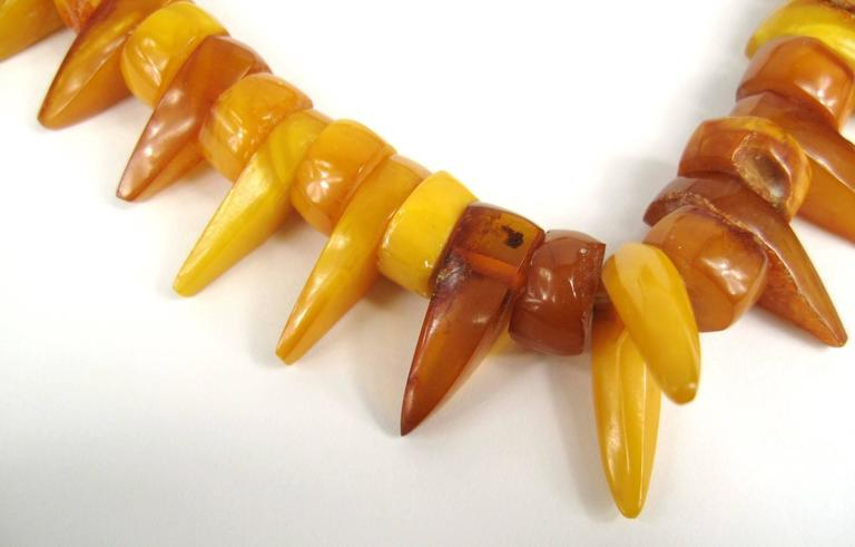 Baltic Honey Amber Tribal Necklace  4