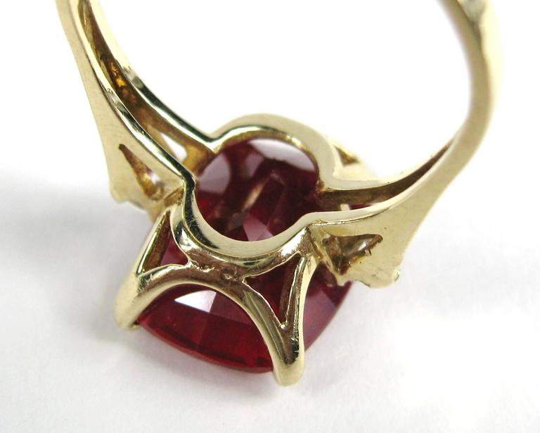 Women's Stunning 1950's 14K Gold Diamond Ruby Ring  For Sale
