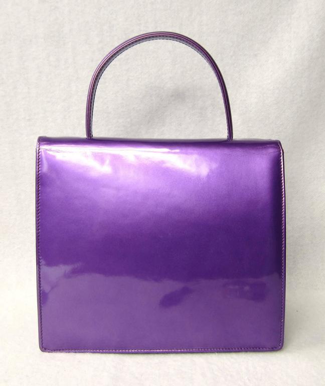Purple Calf Leather Escada Handbag New Old stock 1990s 2