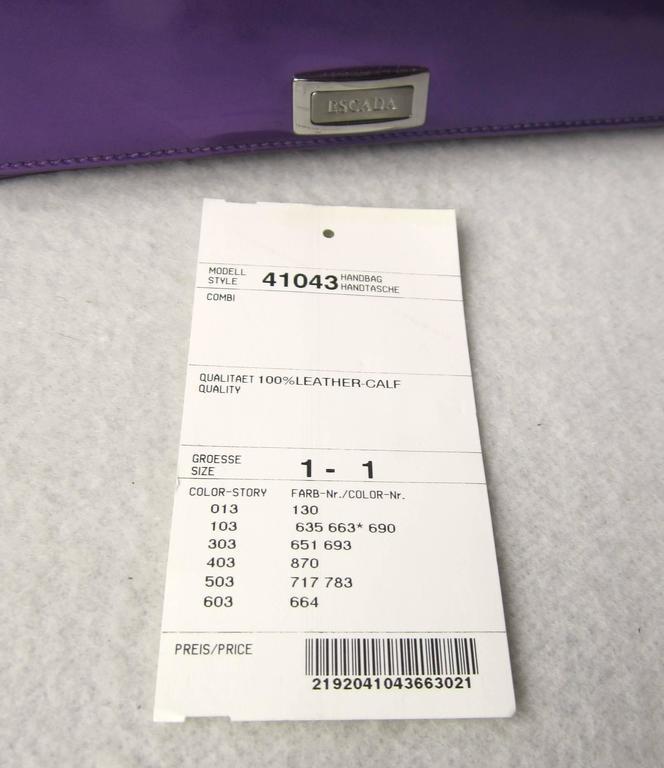 Purple Calf Leather Escada Handbag New Old stock 1990s 6