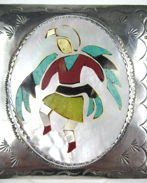 Stunning Kachina Zuni Belt Buckle 
