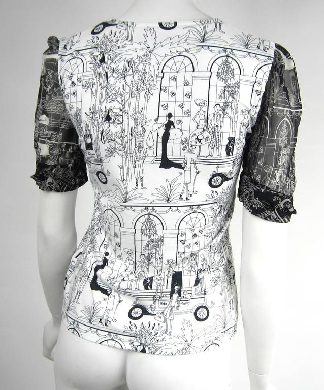 1990s John Galliano Whimsical Print Tee Shirt  4