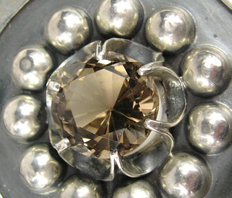 Massive Sterling Silver Mexican Pendant  3
