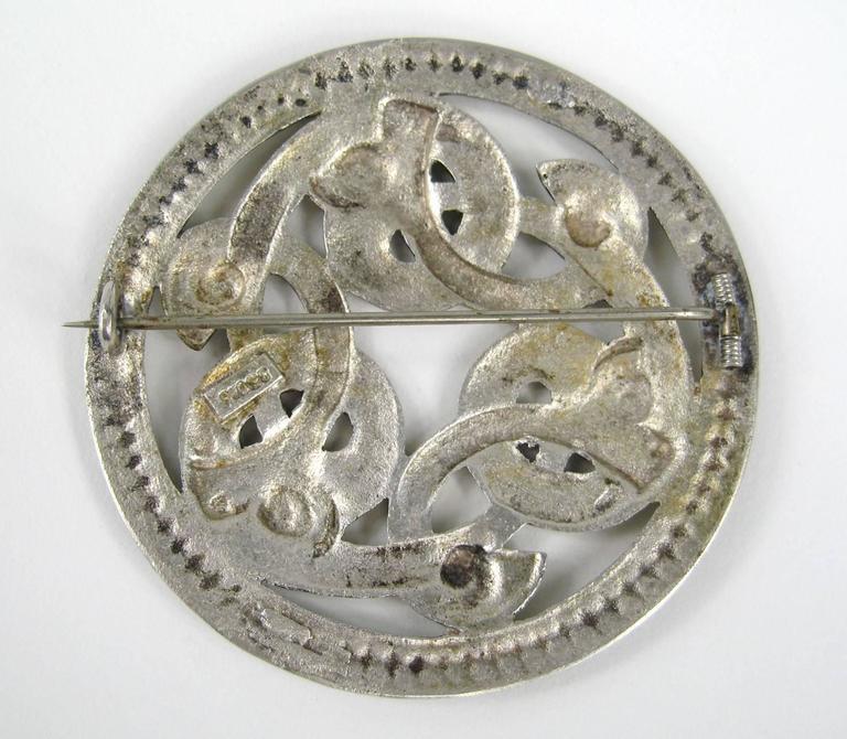 Danish Mid Century Modern Silver Serpent Brooch For Sale ...