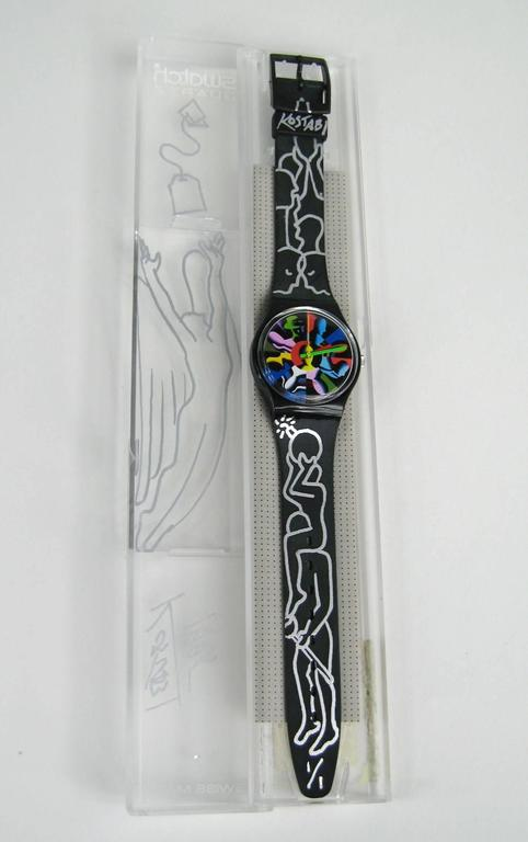 New Old Stock Twelve Apostles Swatch Watch Hand Signed by Kostabi 1995 7