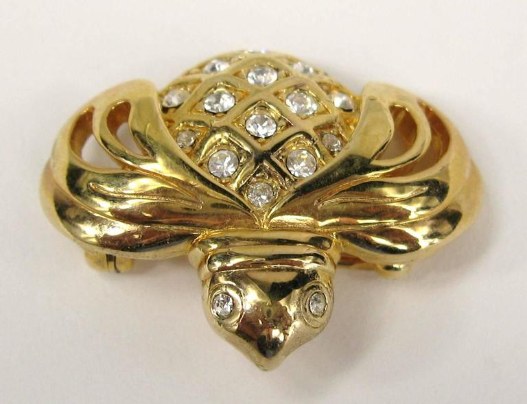 SWAROVSKI Crystal Bumble Bee Insect Bug Brooch Pin Never Worn  2