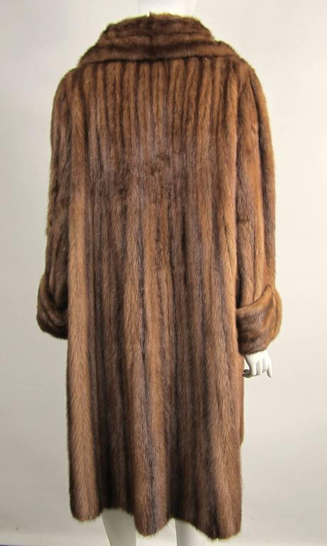 Luxurious Vintage Old Hollywood Swing Mink Fur Coat Wide Cuff 2