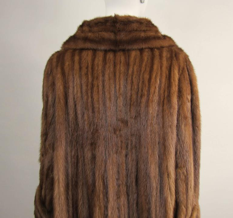 Luxurious Vintage Old Hollywood Swing Mink Fur Coat Wide Cuff 3