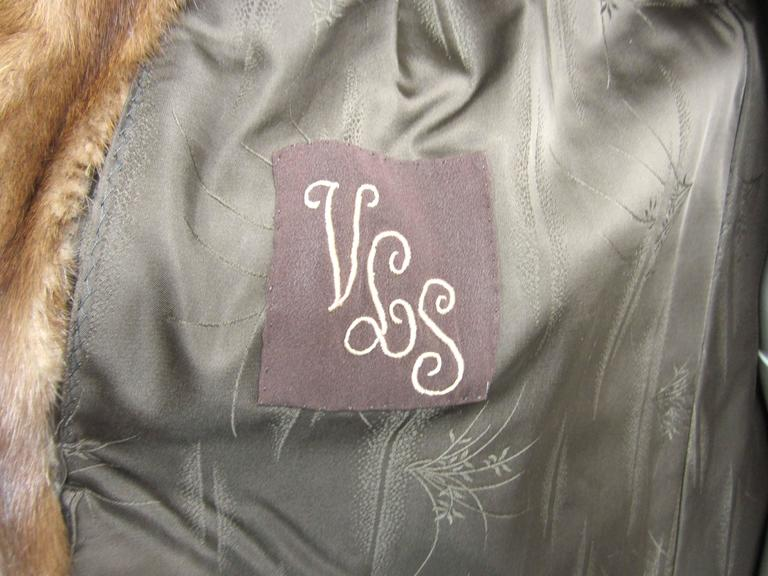 Luxurious Vintage Old Hollywood Swing Mink Fur Coat Wide Cuff 4