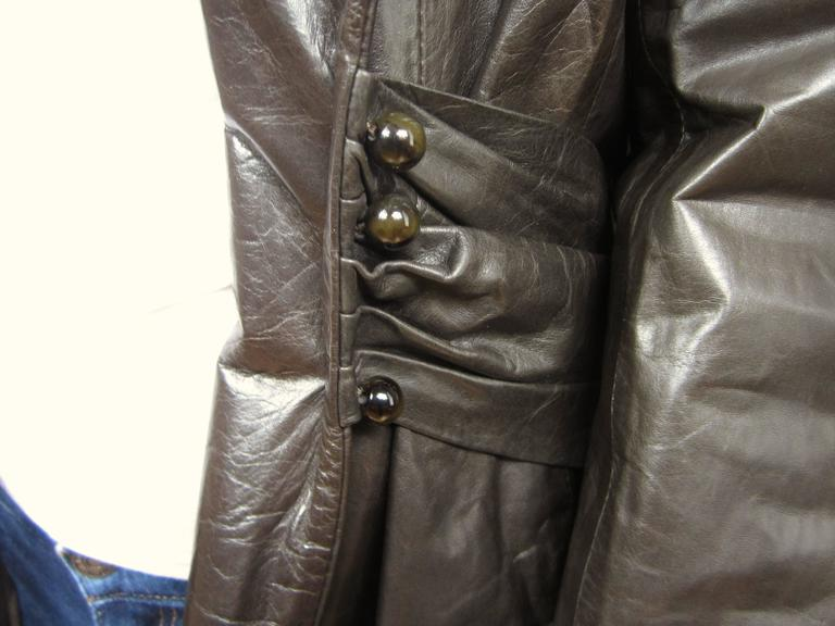 Brown leather riding jacket