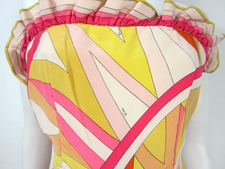 56e1ab73171e Orange Pucci Silk Palazzo Pants Strapless Jumpsuit