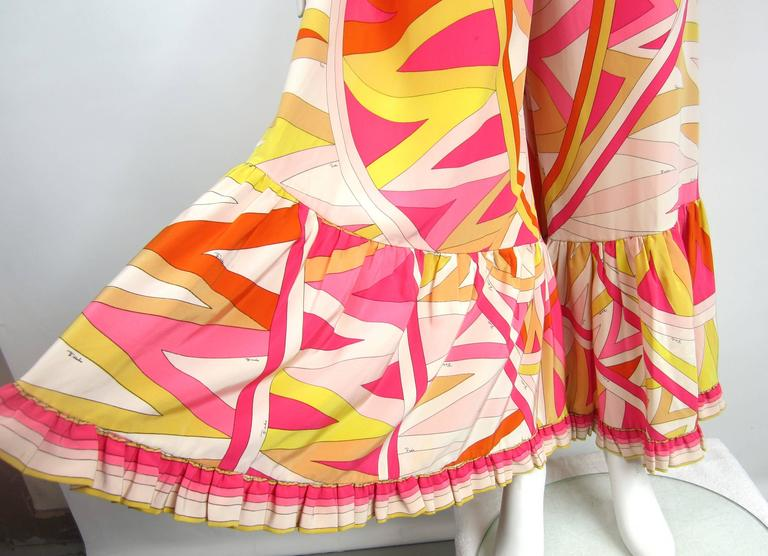 Pucci Vintage Silk Palazzo Pants Strapless Jumpsuit, 1960s   4
