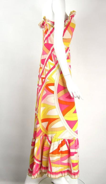 Pucci Vintage Silk Palazzo Pants Strapless Jumpsuit, 1960s   7
