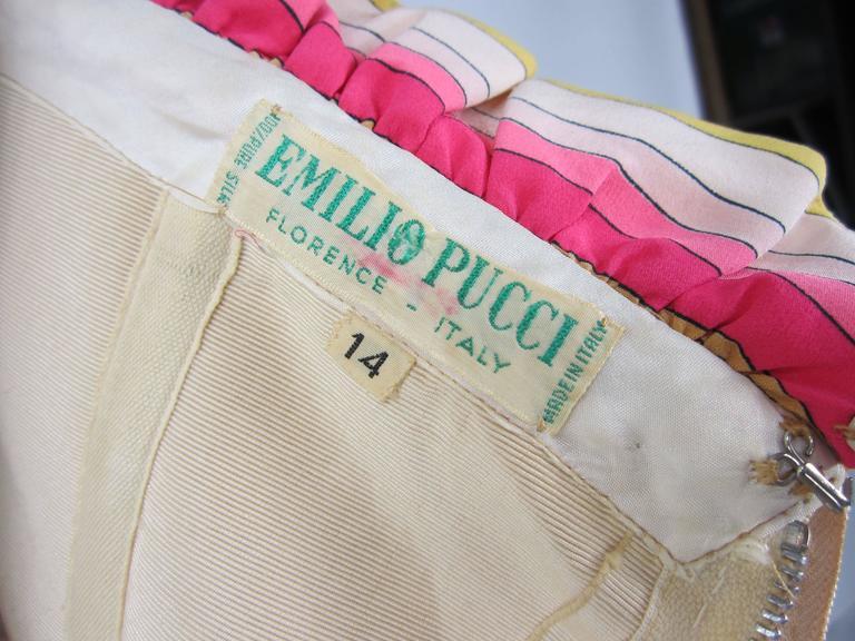 ad9537070765 Pucci Silk Palazzo Pants Strapless Jumpsuit