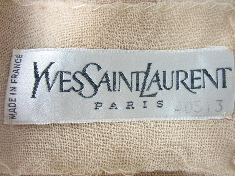 Russian Collection Yves Saint Laurent Beaded 1976 Pheasant Blouse Shirt Numbered 10