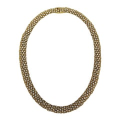 1980s Ciner swarovski Crystal Choker Necklace Goldtone-New, Never Worn