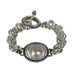 Stephen DWECK Rose Mabe Pearl Sterling Silver Bracelet 1990s Never worn