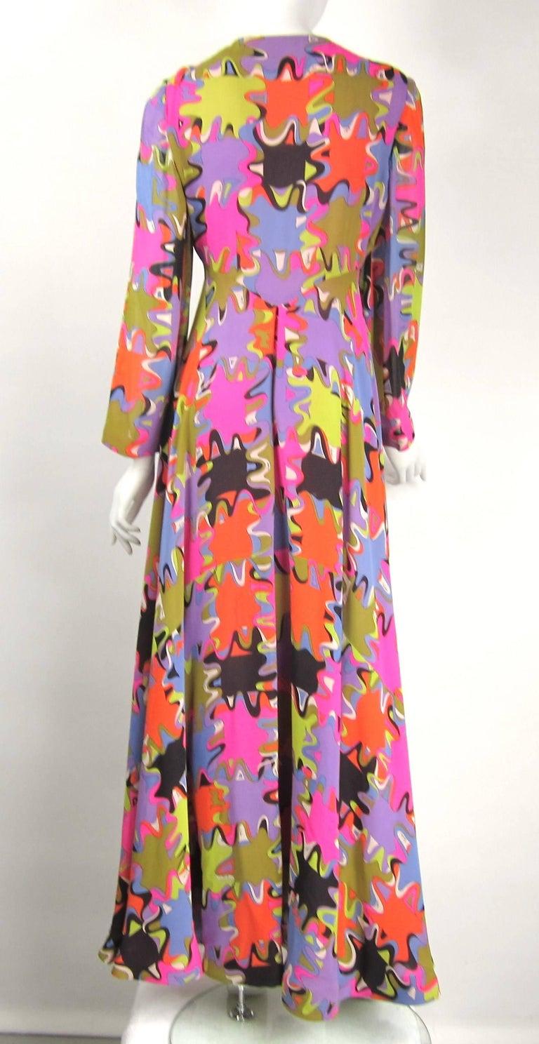 2642406a8387 Vintage 1960s Emilio Pucci Silk Purple Green palazzo pants jumpsuit For  Sale 2