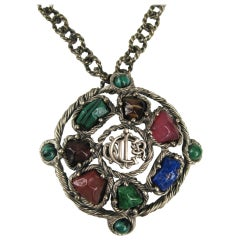 Vintage Christian Dior Chunky Stone Necklace