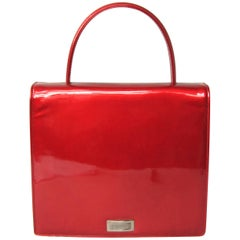 Red Patent Calf Leather Escada Handbag 1990s New, Never used