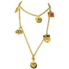 Karl Lagerfeld Enameled Charm Necklace 14 Blvd De La Madeleine New, Never Worn