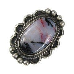 Pawn Navajo Sterling Silver Purple Hue Petrified Wood Ring