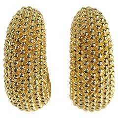 Oversized Ciner Gold Gilt Hoop earrings Never worn 1980s