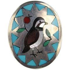 Sterling Silver Zuni Sammy & Esther Guardian Bird Ring