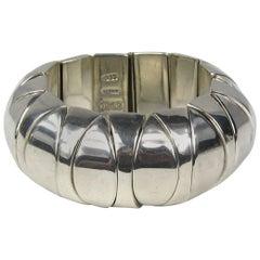 Sterling Silver Modernist Mexican Bold Link Bracelet