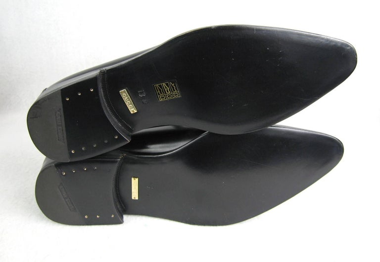 GUCCI Size 13 Men's Leather Nero Black Slip On Loafers Shoes NEW For Sale 3