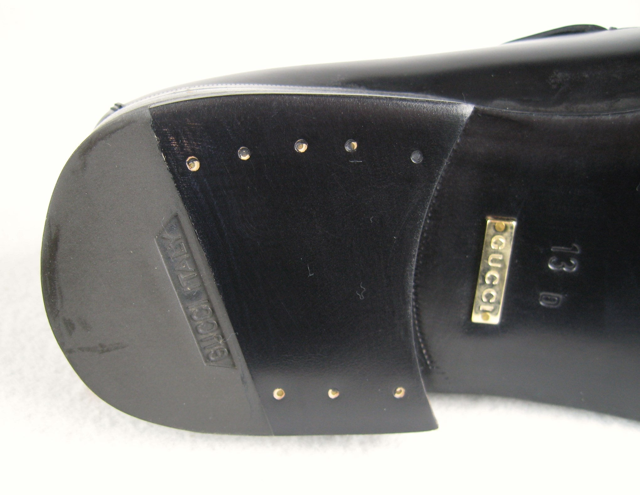 346ad673f1f GUCCI Size 13 Men s Leather Nero Black Slip On Loafers Shoes NEW For Sale  at 1stdibs