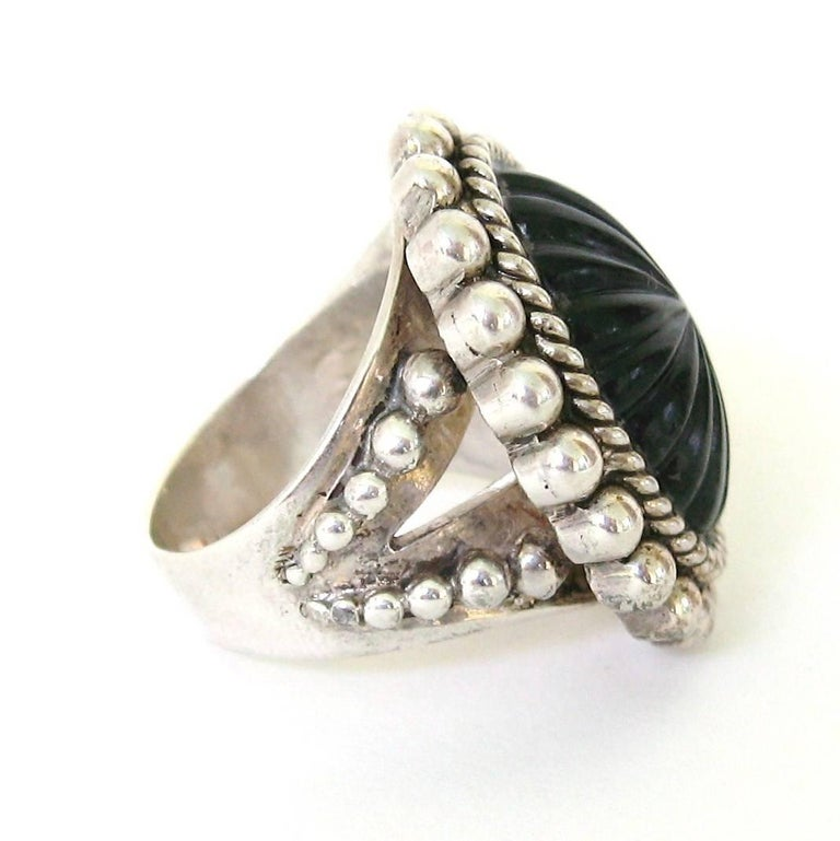 Stephen Dweck Sterling Silver Ring 1992 New Old Stock Never worn  In New Condition For Sale In Wallkill, NY
