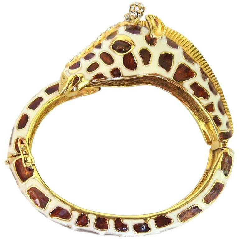 Ciner Giraffe Bracelet Swarovski Crystal New Old Stock 1980s Never Worn For