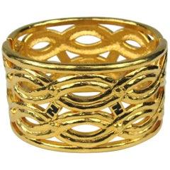 Fendi Clamper Gold Tone Bracelet 1980s New,  Never worn