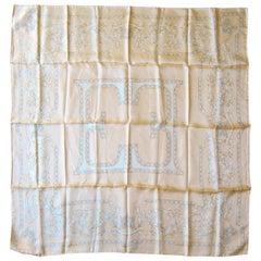 Pale Orange Escada Silk Scarf Made in Italy New never worn 1990s