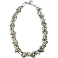 Heavy ROBERT LEE MORRIS Sterling X Motif Necklace