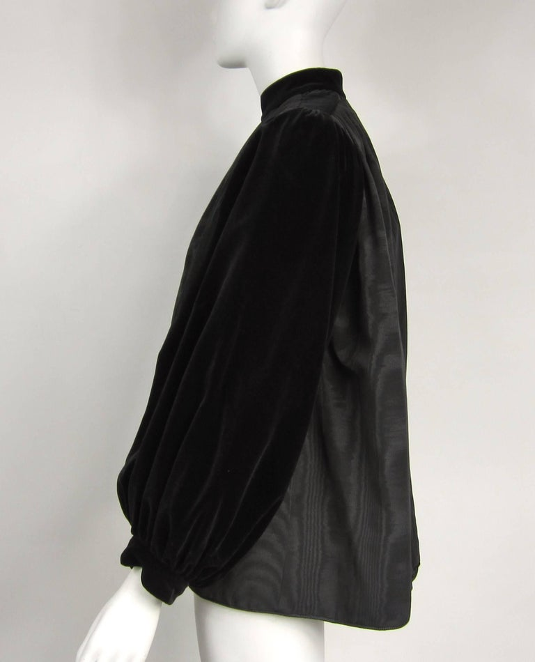 VIntage 1970s Yves Saint Laurent Black Velvet Russian Collection 1976 Jacket  In Excellent Condition For Sale In Wallkill, NY